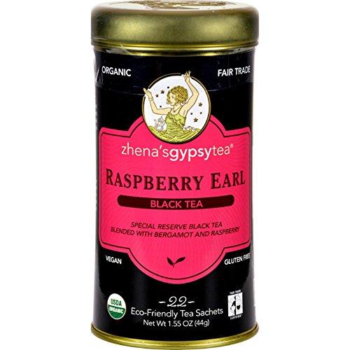 Zhenas Gypsy Tea Raspberry Earl Black Tea - Case of 6 - 22 Bags