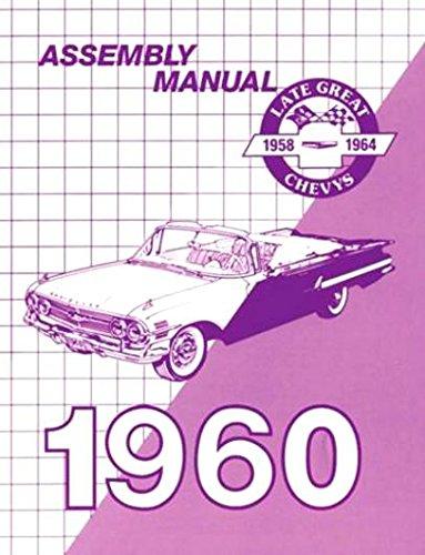 1960 Chevy Reprint Assembly Manual Biscayne Bel Air Impala El Camino
