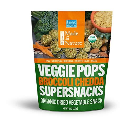 Made in Nature Organic Veggie Pops - Broccoli Chedda 8 oz - Non-GMO Vegan Veggie Snack