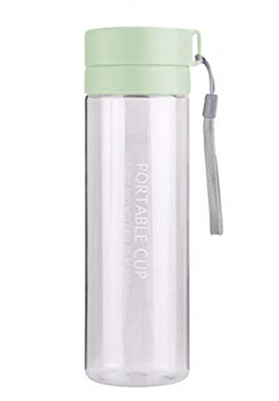 VLUNT Botella de Agua Plastico sin BPA, Botella de Agua Portátil para Deportiva, Oficina