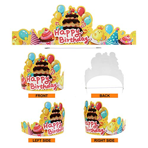 Birthday Crowns for Kids Classroom, Cute Elastic Happy Birthday Hats for Students Class School Kinde - http://coolthings.us