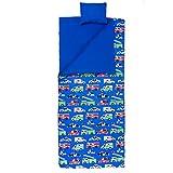Wildkin Olive Kids Heroes Sleeping Bag, Blue