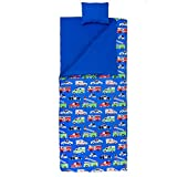 Wildkin Original Sleeping Bag, Features Matching Travel Pillow and Coordinating Storage Bag, Perfect for Sleeping On-the-Go, Olive Kids Design - Heroes