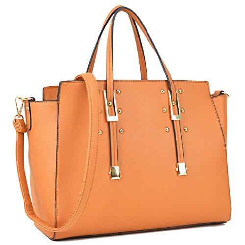 Dasein Womens Handbag Fashion Shoulder Bag Tote Satchel Designer Purse w/ Buckle Handle - Warehouse Designer Fashion
