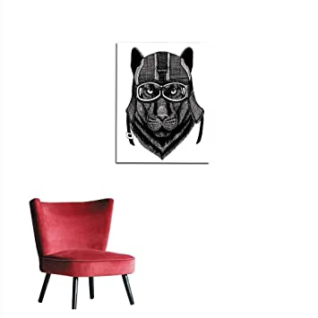 Stupendous Amazon Com Wallpaper Black Panther Hipster Animal Wearing Bralicious Painted Fabric Chair Ideas Braliciousco