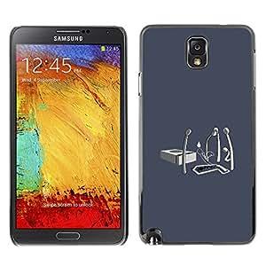 CASEX Cases / Samsung Note 3 N9000 N9002 N9005 / Matchstick Funeral - Funny # / Delgado Negro Plástico caso cubierta Shell Armor Funda Case Cover Slim Armor Defender
