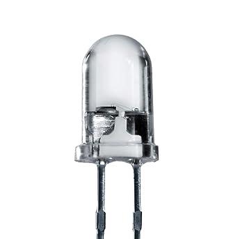 LED 5mm BLANC transparent très lumineuse