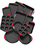 Vremi 12 Piece Nonstick Bakeware Set - Small and Large Baking Sheets and ...