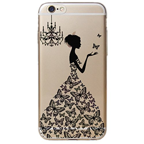 Hovisi TPU Art Design Relief Pattern Crystal Case Back Cover for Iphone 6Plus/6sPlus 5.5Inch