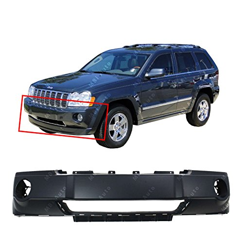 - MBI AUTO - Primered, Front Bumper Cover Fascia for 2005 2006 2007 Jeep Grand Cherokee 05 06 07, CH1000450