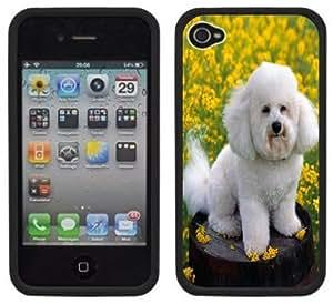 Bichon Frise Handmade iPhone 4 4S Black Hard Plastic Case