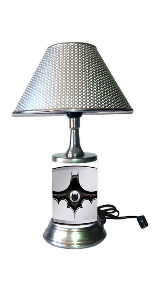 Batman Symbol Lamp with Metallic Color Shade, Logo