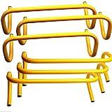 Energi8_blu Trading Speed Training Hurdles (Pack of 6), 6-inch Height, Yellow