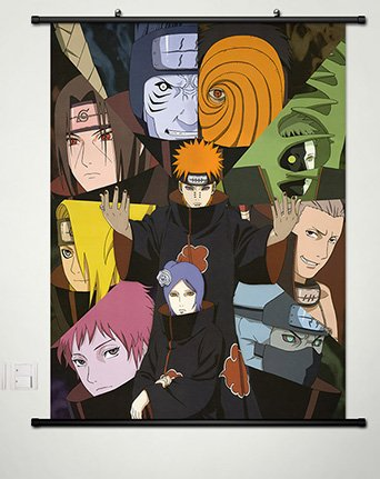 Wall Scroll Poster Fabric Painting For Anime Naruto Akatsuki