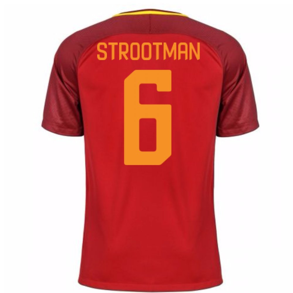 2017-18 Roma Home Football Soccer T-Shirt Trikot (Kevin Strootman 6)