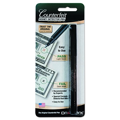 Dri-Mark 351B1 Smart Money Counterfeit Bill Detector Pen for Use w/U.S. Currency (Currency Us Marker)