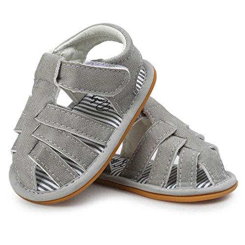 Huhu833 Baby Schuhe, Baby Boys Sandalen Schuh Freizeitschuhe Sneaker Anti-Rutsch Weiche Sohle Kleinkind Grau