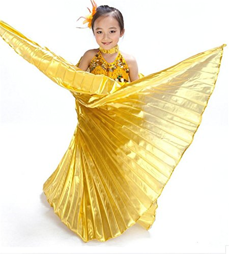 Children's Isis Costume (Pilot-trade Children's Kids Belly Dance Costume Egyptian Isis Wings Gold)