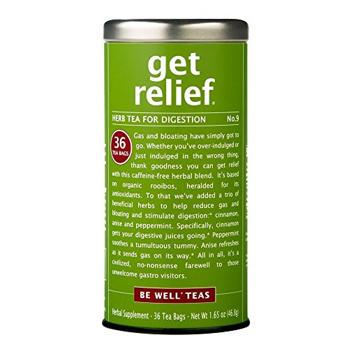 The Republic Of Tea Be Well Red Rooibos Tea - Get Relief - No.9 Herb Tea For Digestion, 36 Tea Bag Tin