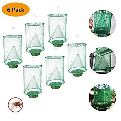 2019 New Ranch Fly Trap Outdoor, Effective Trap Ever Made Fishing Apparatus with Food Bait Flay Catcher for Indoor or Outdoor Family Farms, Park, Restaurants