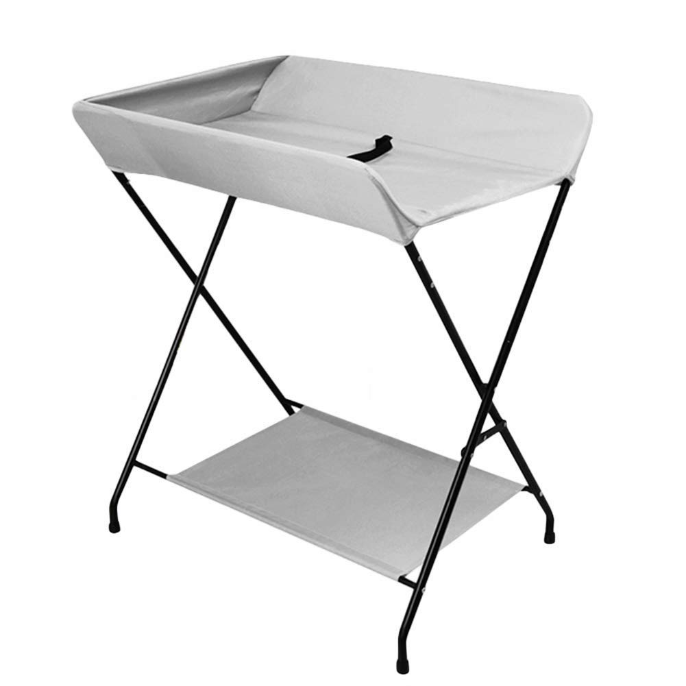 Portable Folding Simple Diaper Table, Baby Care Table, Newborn Baby Changing Diaper Table Massage Touch Shower Table (Color : Gray)