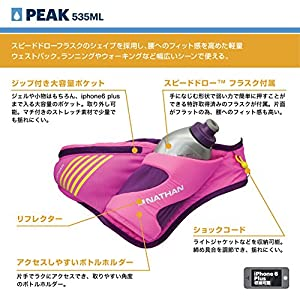 Nathan Peak Waist Pack, Floro Fuchsia/Imperial Purple, One Size