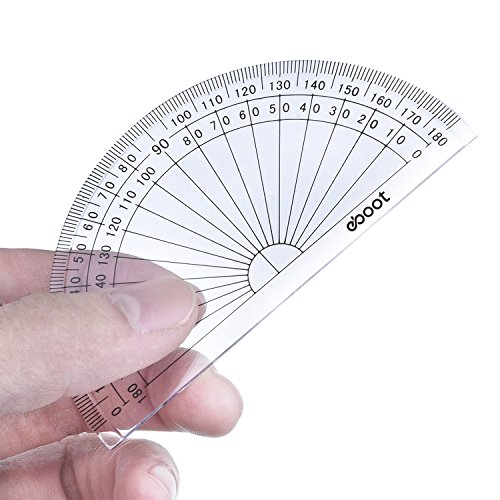 eBoot 28 Pack Clear 180 Degree Plastic Protractors for Angle Measurement, 10 cm by eBoot (Image #3)