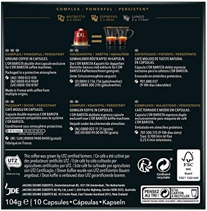 LOR BARISTA,Cápsulas Doble Barista Selection Intensidad 13 - Exclusivas para cafeteras LOR BARISTA (1 pack, 10 cápsulas en total): Amazon.es: Alimentación y bebidas