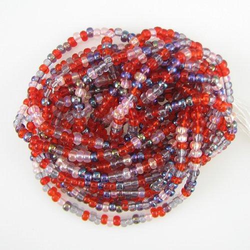 Czech Seed Beads 6/0 Melonberry Mix Mini Hank