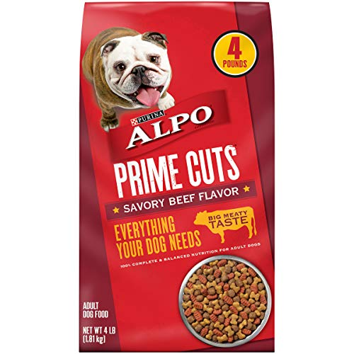 Purina ALPO Dry Dog Food; Prime Cuts Savory Beef Flavor - 4 lb. Bag-  (Pack of 4)