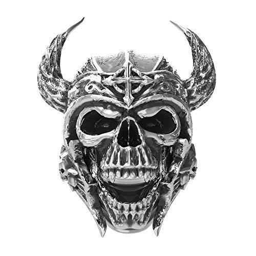(eejart 316L Stainless Steel Skull Ring Knights Templar Helmet Warrior Ring, The Premium Fashion Forward Band Ring for Man (Silver, 9))