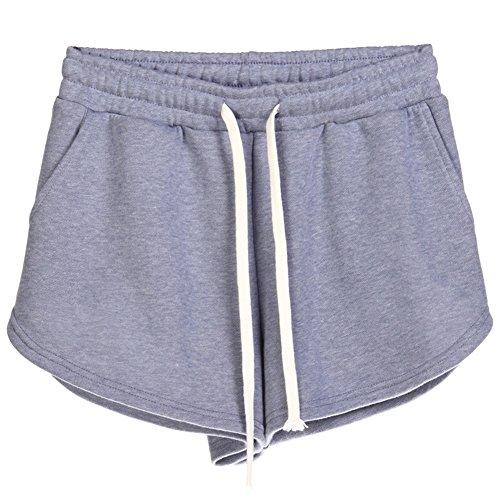 Viola Pantaloni Pantaloncini Coulisse Size Elastica Vita Corti Plus Casuale Sport Donna Hot Fitness Pants wzqSOO