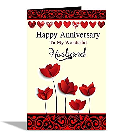 Alwaysgift Happy Anniversary Husband Greeting Card Amazonin