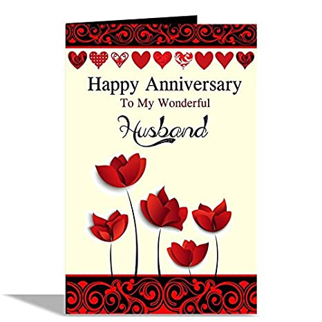Alwaysgift Happy Anniversary Husband Greeting Card Amazonin Office Products