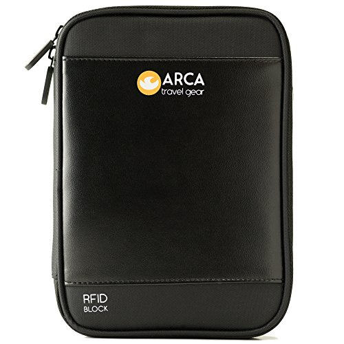 PASSPORT HOLDER & TRAVEL DOCUMENT ORGANIZER RFID Blocking Perfect Wallet To Fit Your Kindle,Tickets,...