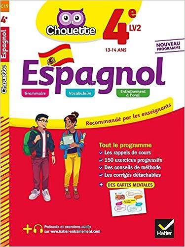 Espagnol 1re année 6e LV1 / 4e LV2 : cahier de révision et d'entraînement