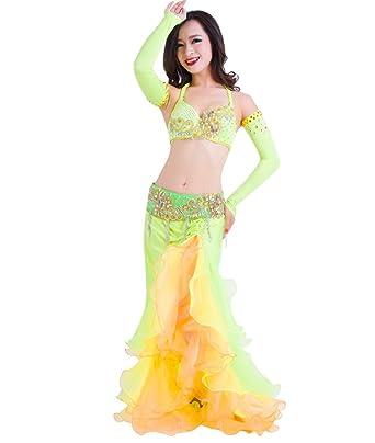 SunWanyi Vestido Danza del Vientre Trajes Establece Indian ...