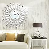 Modern Style Fashion Originality Mirror with Iron Mute Wall Clock