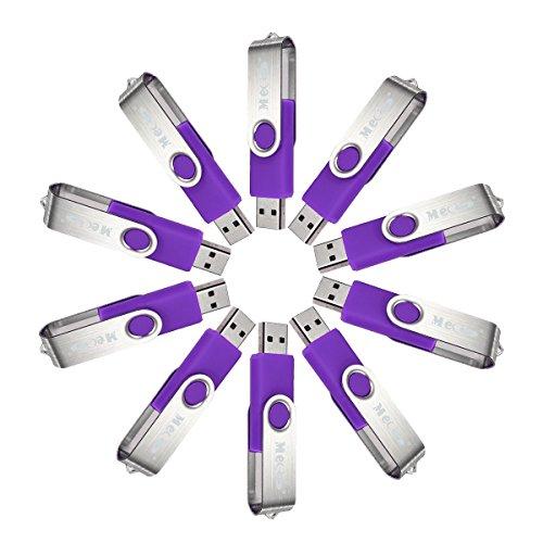 1g Flash (MECO 10Pcs 1GB 1G USB 2.0 Flash Drive Memory Stick Fold Storage Thumb Stick Pen Swivel Design)