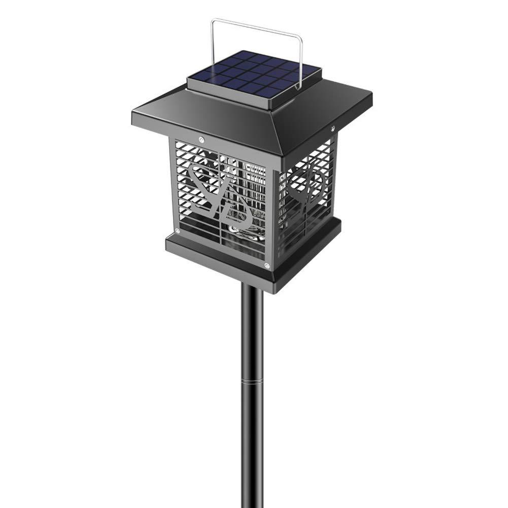 Black B Black B LED Solar Mosquito Killer Lamp,Portable Camping Lantern,Outdoor Garden Lawn Landscape Light,Black,B
