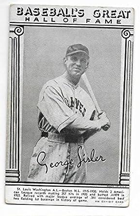 Amazoncom 1948 Baseball Hall Of Fame Exhibit Card Of