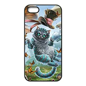 Custom Art Alice in Wonderland–Cheshire Cat Special DIY Case for iPhone 5and iphone 5s