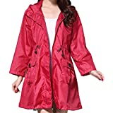 YOJDTD Raincoat, Poncho, Fashion Raincoat, Light Raincoat, Drawstring Raincoat, red, one Size