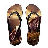 Couple Flip Flops Horse Fantasy Print Chic Sandals Slipper Rubber Non-Slip Beach Thong Slippers