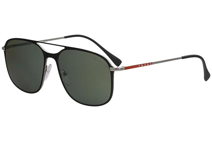Prada Linea Rossa 0PS 53TS Gafas de Sol, Black/Gunmetal 56 ...
