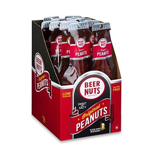 BEER NUTS Original Peanuts | Beer Bottle Bags 12 Pack Box - 1.75 oz. Individual Bags - Sweet and Salty