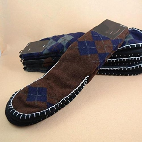 Non-slip floor socks Adult men Autumn and winter double t...