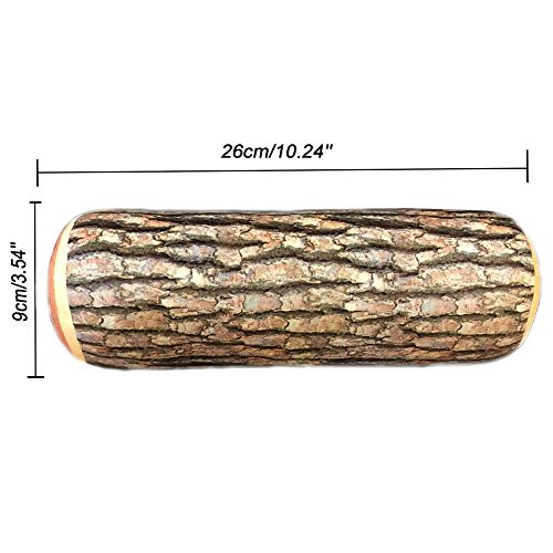 Sunnyys Throw Pillow Back Soft Cushion Car Neck Home Sleeping Design Natural Wood Log (Best Log Splitters 2019)