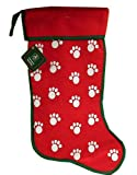 Pets Christmas Stocking Green with Red Trim