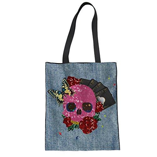 Advocator Mädchen Tragetaschen für Schule Canvas Shopper Taschen Strandtasche für Teenager Color-15